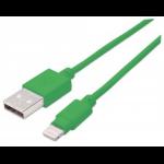 Manhattan 1m, USB 2.0-A/Lightning Green