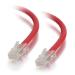 C2G Cable de conexión de red de 2 m Cat5e sin blindaje y sin funda (UTP), color rojo