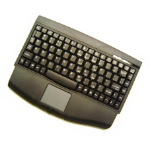 Adesso Mini-Touch Keyboard with Touchpad (Black) USB QWERTY Black