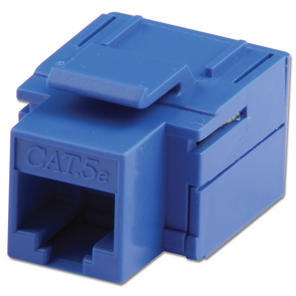 LINDY CAT5e Keystone Coupler. Blue