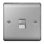 Nexus NBSBTM1 RJ-11 Stainless steel socket-outlet