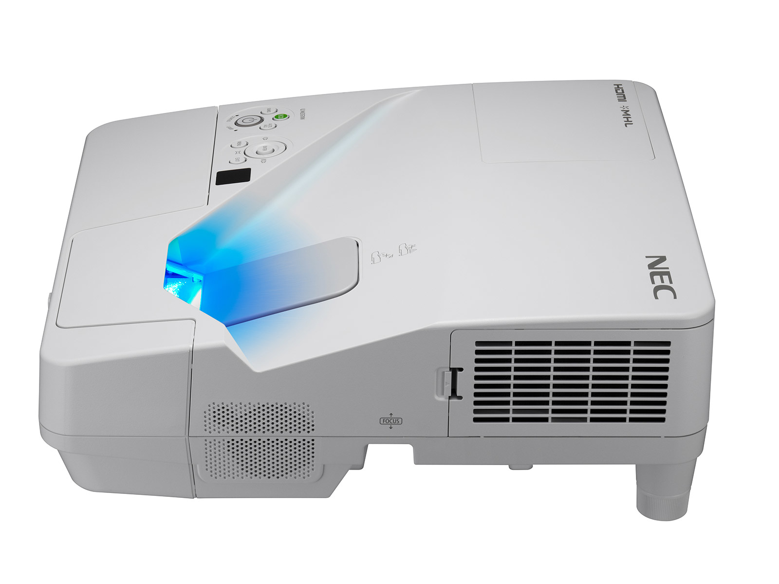 NEC UM351W data projector 3500 ANSI lumens 3LCD WXGA 1280x800 Desktop projector White