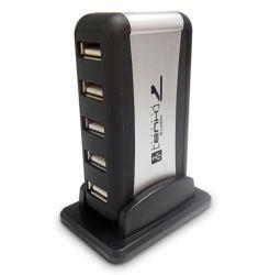 DYNAMODE (USB-H70-1A2.0) External 7-Port USB 2.0 Hub Mains Powered Retail
