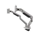 "Maclocks 720REACH 24"" Clamp Silver flat panel desk mount"