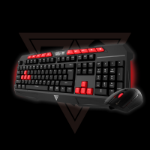 GAMDIAS GKC100 USB Black, Red keyboard