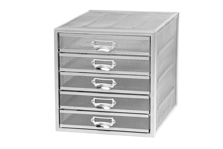 Osco Mesh 5 Sorter Drawer (Silver)