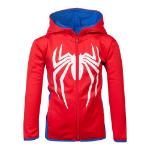 Marvel Spider-man Logo Teq Full Length Zipper Hoodie, Kid's Unisex, 110/116, Red/Blue (HD371836SPN-110/116)