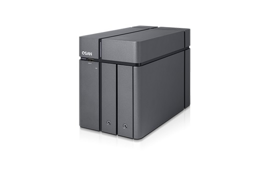 Qsan Technology XCube NAS Tower 2 bay Intel 1.1GHz Quad Core Processor 4GB DDR3L RAM (Max 8GB)