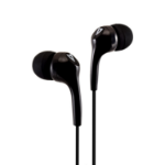 V7 Stereo Earbuds , Lightweight, In-Ear Noise Isolating, 3.5 mm, Black