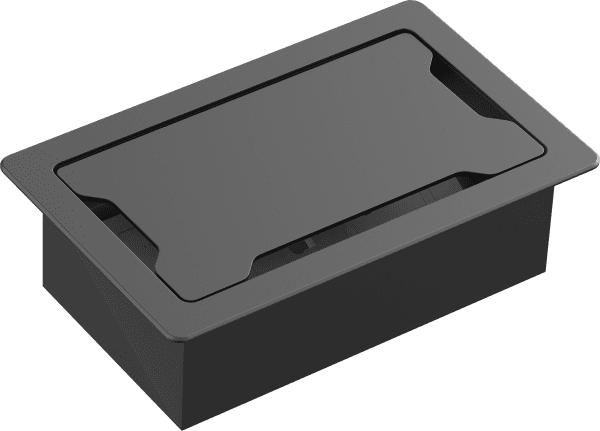 Vision TC3 SURRTB organizador de cables Caja de cables Escritorio Negro, Blanco 1 pieza(s)