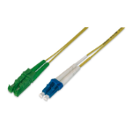 ASSMANN Electronic AL-9E2000LC-02I Glasvezel kabel 2 m LSZH OS2 E-2000 (APC) LC/PC Geel