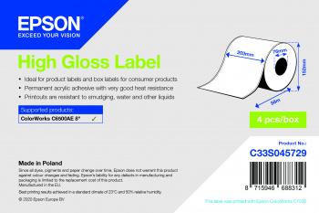 Epson C33S045729 etiqueta de impresora Blanco