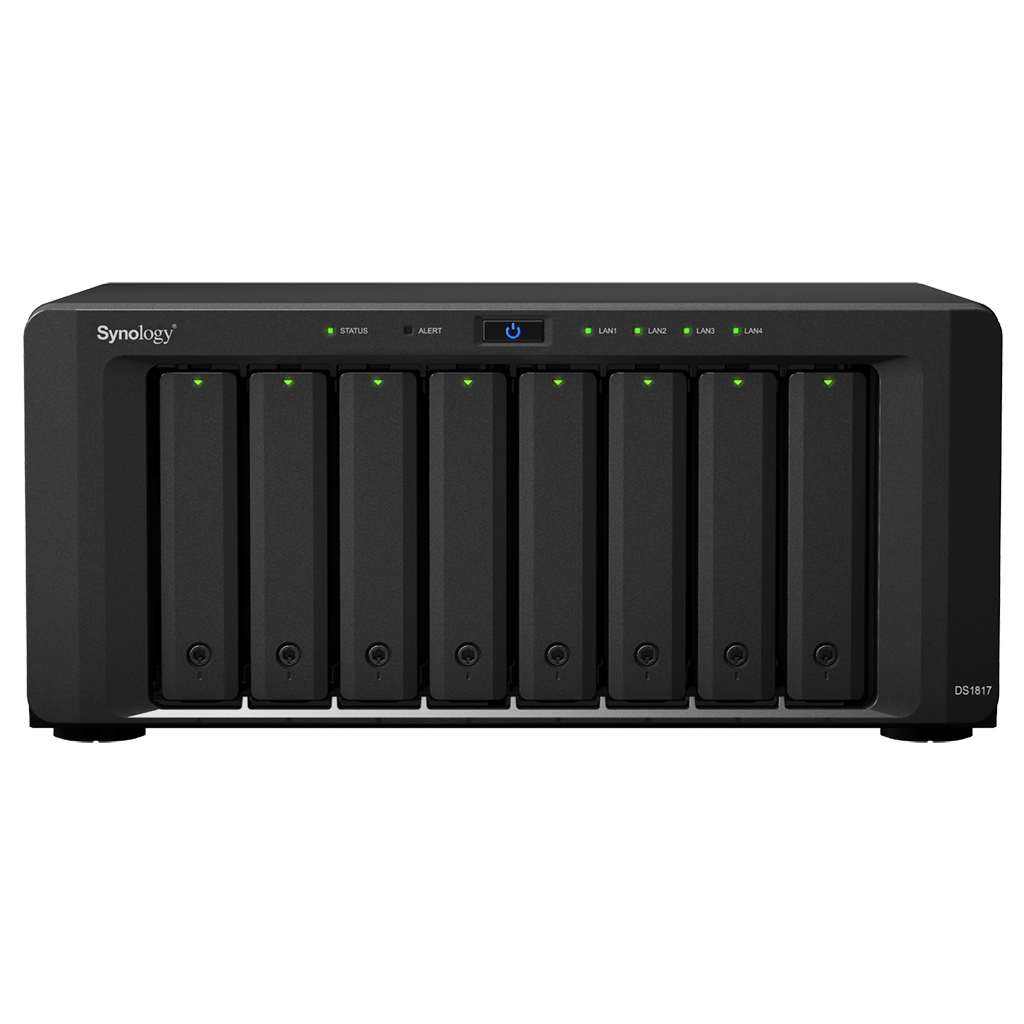 Synology DiskStation DS1817 Ethernet LAN Desktop Black NAS