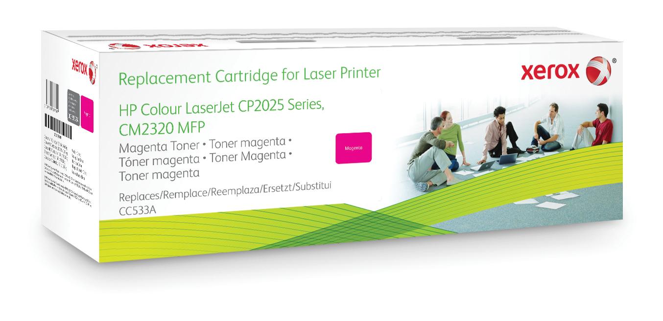 Xerox Cartucho de tóner magenta. Equivalente a HP CC533A. Compatible con HP Colour LaserJet CM2320 MFP, Colour LaserJet CP2020/CP2025