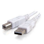 C2G 3m USB 2.0 A/B Cable 3m USB A USB B Male Male White USB cable