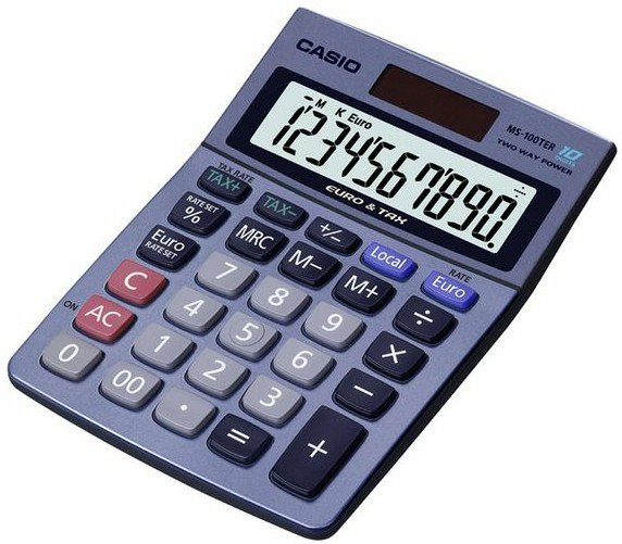 Casio MS-100TER calculator Desktop Display