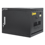 """Manhattan Charging Cabinet via USB-C x16 Devices, Desktop (& Wall Mountable), Power Delivery 65W per port (1040W total), UVC Disinfecting LEDs, Suitable for Laptops (up to 15.6"""")/Tablets, Bays 380x30x280mm,Device charging cables not included,Lockable, UK"""