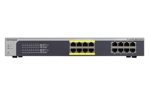 Netgear ProSafe Plus JGS516PE Unmanaged L3 Gigabit Ethernet (10/100/1000) Black Power over Ethernet (PoE)