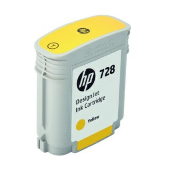 HP F9J61A (728) Ink cartridge yellow, 40ml