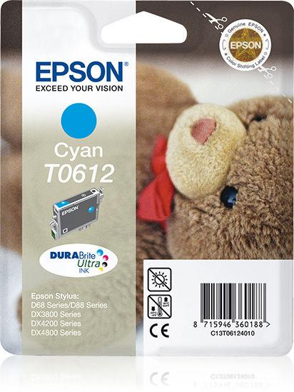 Epson Teddybear inktpatroon Cyan T0612 DURABrite Ultra Ink
