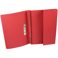 Rexel Jiffex Foolscap Transfer File With Pocket Red (25)