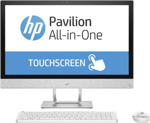 "HP Pavilion 24-r055na 60.5 cm (23.8"") 1920 x 1080 pixels Touchscreen 2.4 GHz 7th gen Intel® Core™ i5 i5-7400T White All-in-One PC"