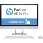 "HP Pavilion 24-r055na 2.4GHz i5-7400T 7th gen Intel® Core™ i5 23.8"" 1920 x 1080pixels Touchscreen White All-in-One PC"