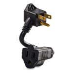 "CyberPower GC201 power extension 5.98"" (0.152 m) 2 AC outlet(s) Indoor Black"