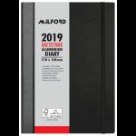 MILFORD DIARY 2019 MILFORD A5 ALUMINIUM DTP BLACK ( EACH )