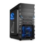 Sharkoon VG4-W Midi-Tower Black,Blue computer case