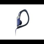 Panasonic RP-HS34PP Gancho de oreja Biauricular Alámbrico Azul auricular para móvil