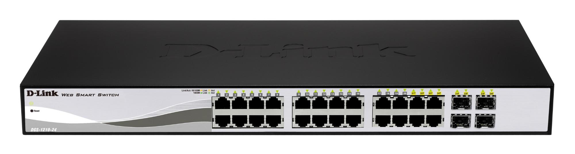 D-Link DGS-1210-24P network switch L2 Gigabit Ethernet (10/100/1000) Black