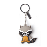 Marvel Guardians of the Galaxy Vol.2 Rocket Raccoon Character 3D Pendant Rubber Keychain, One Size, Multi-c