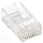 Intellinet RJ45 Modular Plugs, Cat5e, UTP, 2-prong, for stranded wire, 15 µ gold plated contacts, 100 pack
