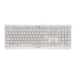 CHERRY KC 1000 Corded Keyboard,Pale Grey, USB (AZERTY - FR)