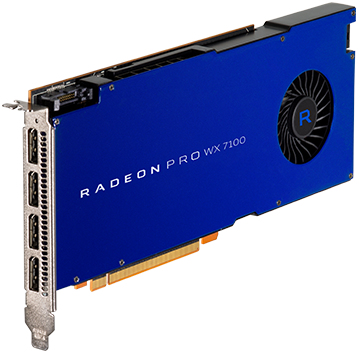 Radeon Pro Wx 7100 8GB Pci-e 3.0 16x 4x Dp Retail