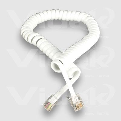 Videk Handset Coiled Cord 1.2m