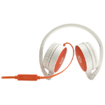 HP H2800 Binaural Head-band Orange,White headset