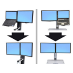 Ergotron WorkFit Convert-to-Dual Kit from LCD & Laptop