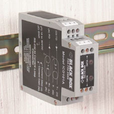 Black Box ICD101A serial converter/repeater/isolator RS-232 Black, Grey