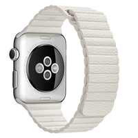 Apple 42mm Leather Loop - Medium - watch strap - white - for Watch (42 mm), Watch Edition (42 mm), Watch H