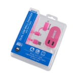 Laser PW-USB48F-PNK Indoor Pink, White mobile device charger