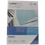 GBC LeatherGrain Binding Covers 250gsm A4 Royal Blue (100)