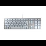 CHERRY KC 6000 SLIM keyboard USB QWERTZ German Silver