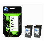 HP C9502AE (56) Printhead black, 520 pages, 19ml, Pack qty 2