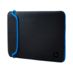 "HP 39.62 cm (15.6"") Neoprene Sleeve notebook case 39.6 cm (15.6"") Sleeve case Black, Blue"