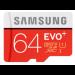 Samsung MB-MC64DA 64GB MicroSDHC UHS Class 10 memory card
