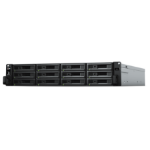 Synology RX1217RP 120TB (12x 10TB Seagate Exos Enterprise HDD) 120000GB Rack (2U) Black, Grey disk array