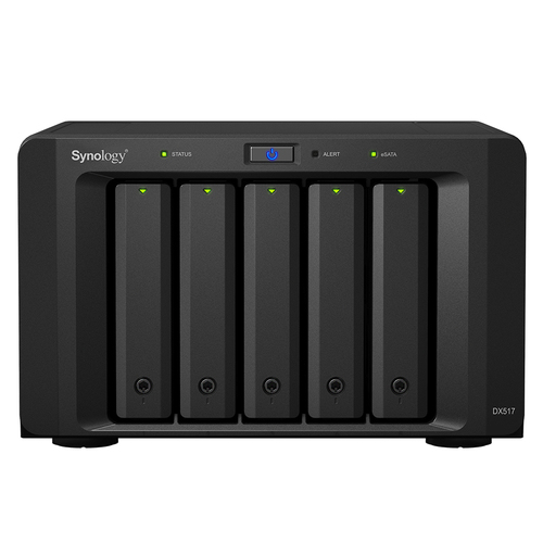 Synology DX517 disk array 70 TB Desktop Black