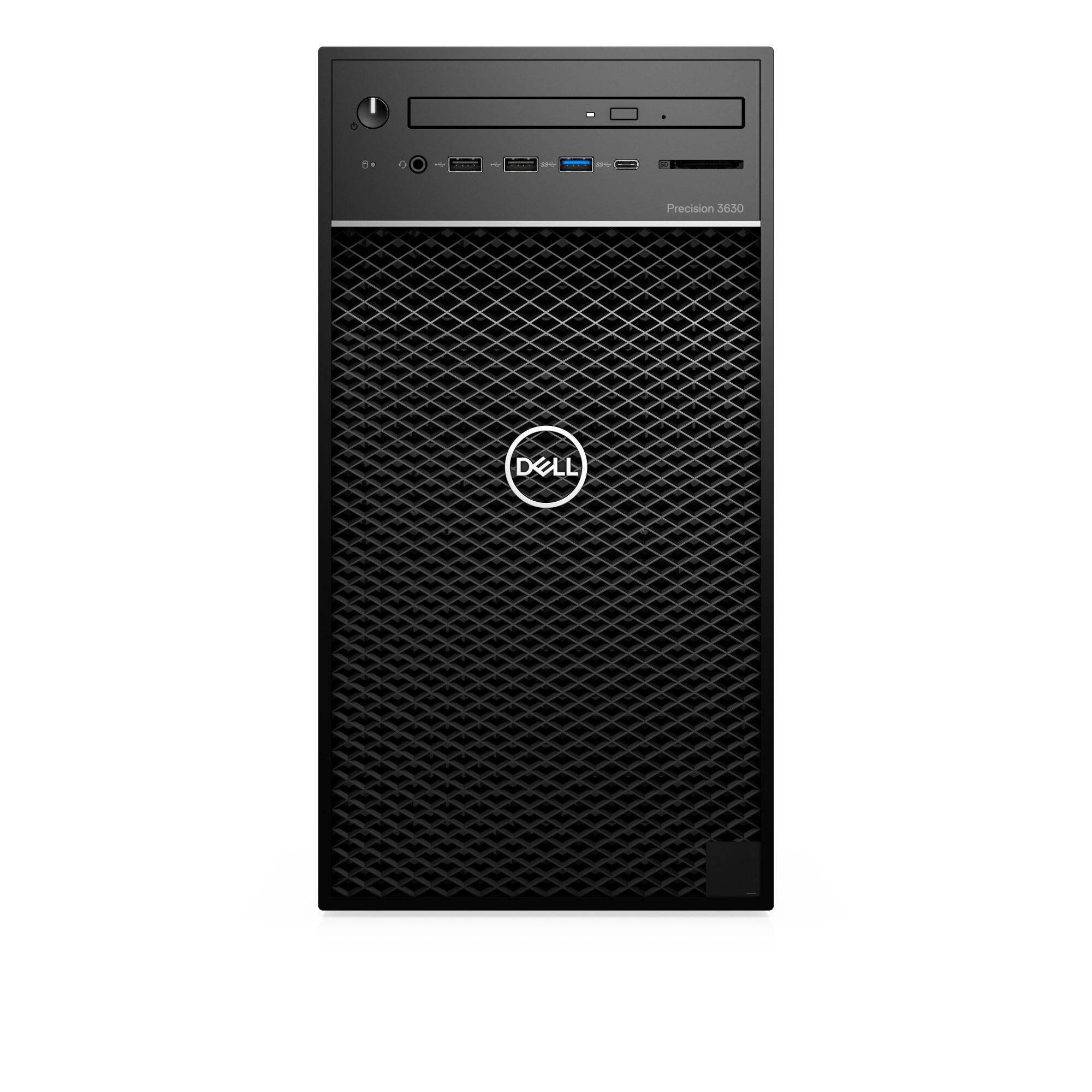 DELL Precision T3630 8th gen Intel® Core™ i7 i7-8700 8 GB DDR4-SDRAM 256 GB SSD Black Tower Workstation